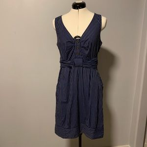 Anthropologie Maeve Fifth Form Striped Dress, Sz 4